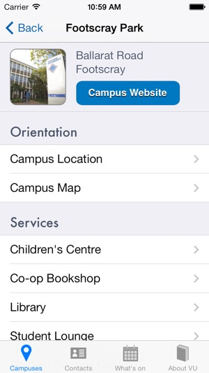 Vu Campus Map.Victoria University On The App Store