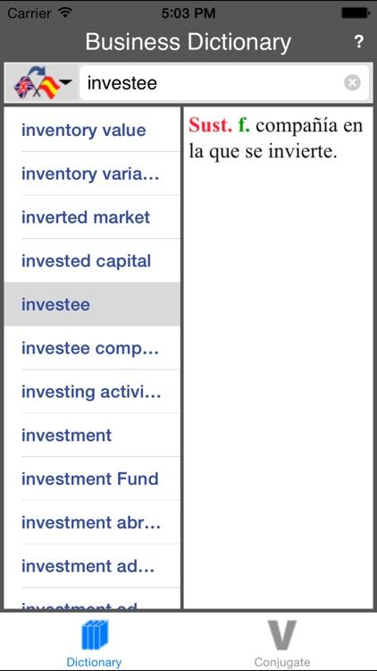 Spanish-English Business Dictionary (Offline) screenshot-3