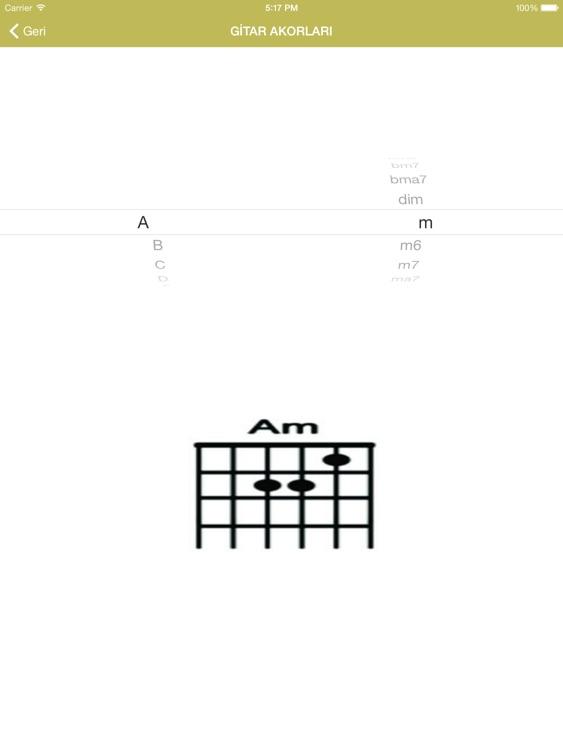 AkorAra for iPad - Güncel & Eski Gitar Akor,Tab,Sözleri screenshot-3