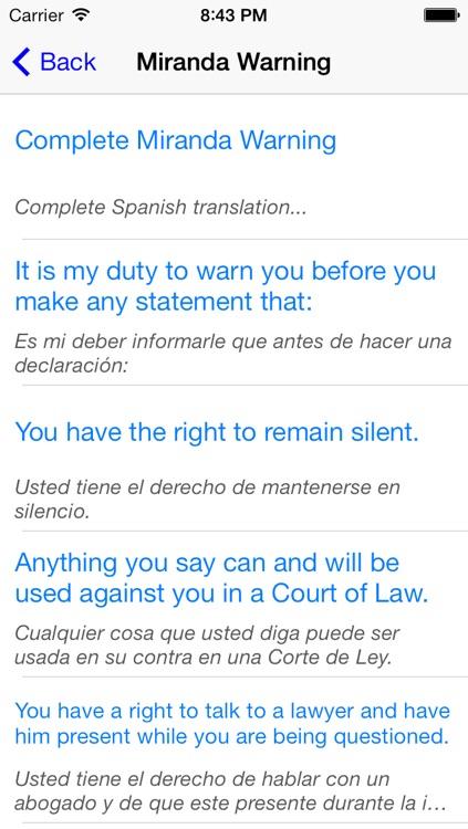 Spanish For Police - Audio Phrasebook