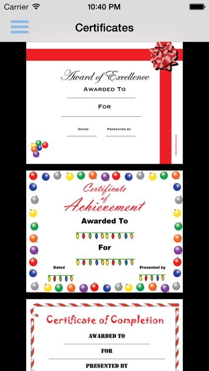 CertificateCreator.com Christmas Edition