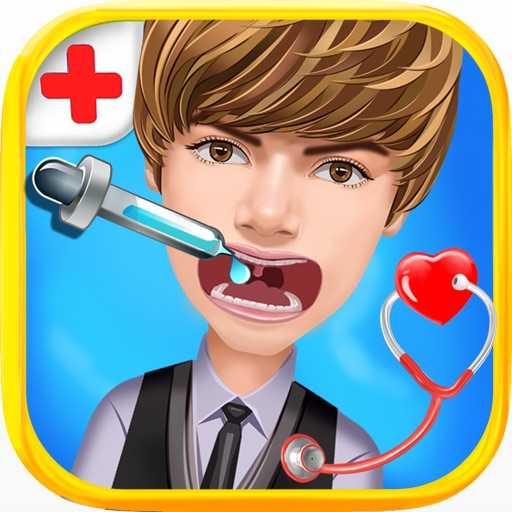 Hollywood Little Dentist & Doctor - free celebrity care & surgery games for kids and girls