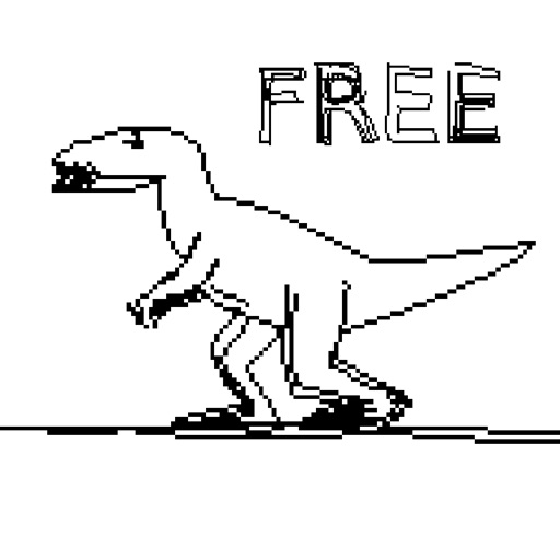 JVGS FREE - Stickman Running Game in a World of Dinosaurs & Time Travel!