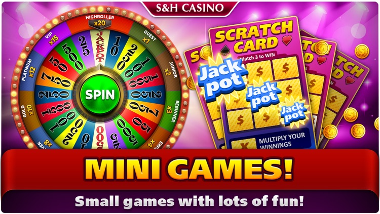 S&H Casino - FREE Premium Slots and Card Games screenshot-4