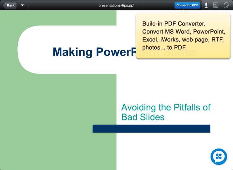 DocAS Lite - PDF Converter, Annotate PDF, Take Notes and Good Reader