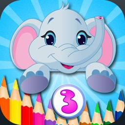 Kid Coloring Box - Doodle & Coloring 2-in-1