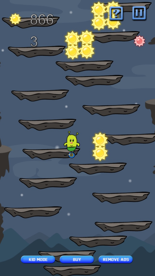 Screenshot #8 for Doodle Alien vs Zombies Jump Game - Heads Up While Also Killing The Pacific Rim Plants!