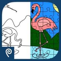Color It Puzzle It: Birds Lite
