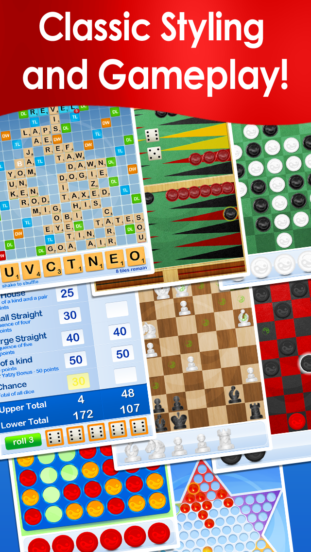 Your Move Board Games ~ play free online Chess, Checkers, Dice, Words & Backgammon with family & friends Screenshot