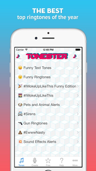 Tonester - Download ringtones and alert sounds for iPhone - AppRecs