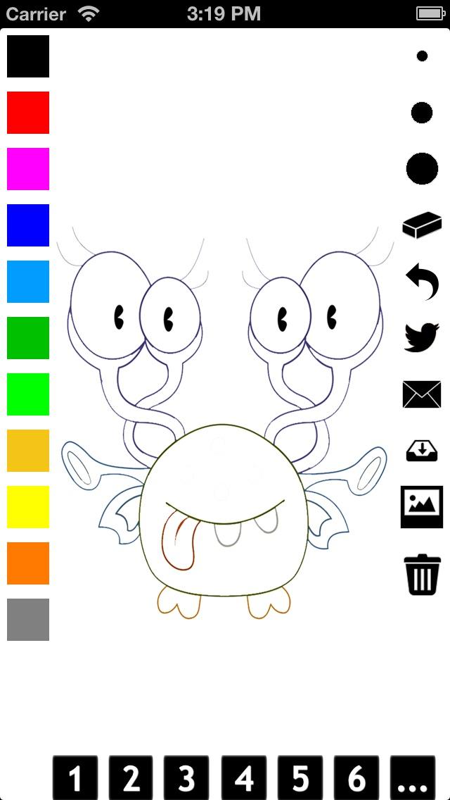 Libro para colorear monstruos para niños: aprender a   Spanish Apps ...