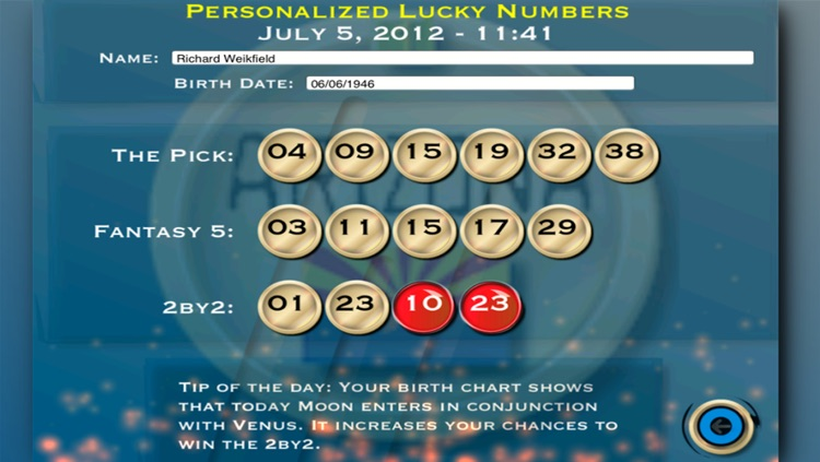 Arizona Lotto - Free Lottery Lucky Numbers by Thaily