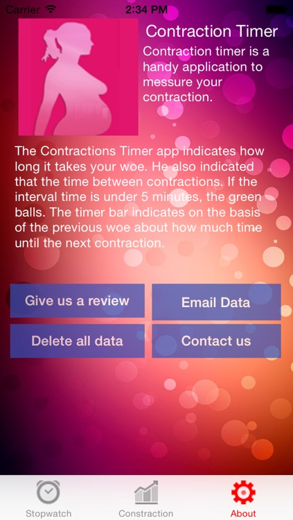 A contraction Timer screenshot-2