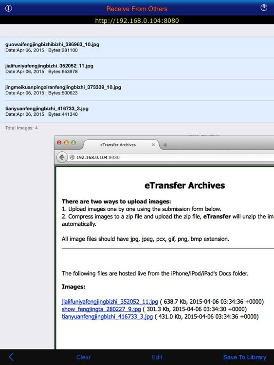 eTransfer Lite For iPad