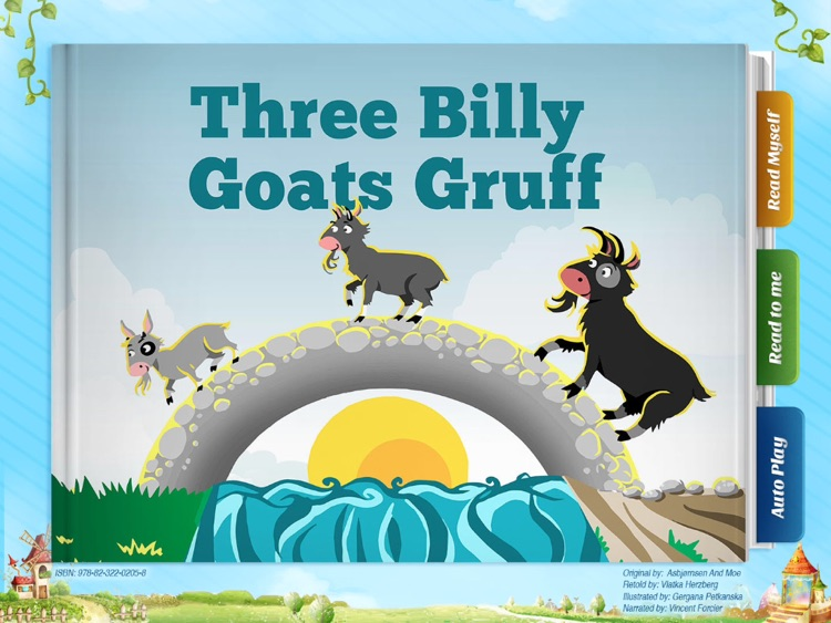 Three Billy Goats Gruff - Have fun with Pickatale while learning how to read!