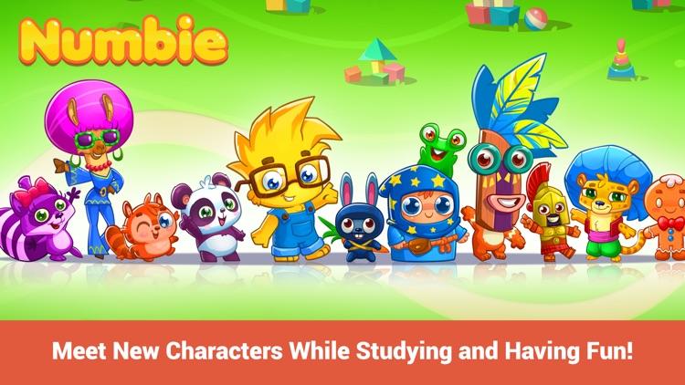 Math for Kindergarten and Pre-School Children with Numbie screenshot-3