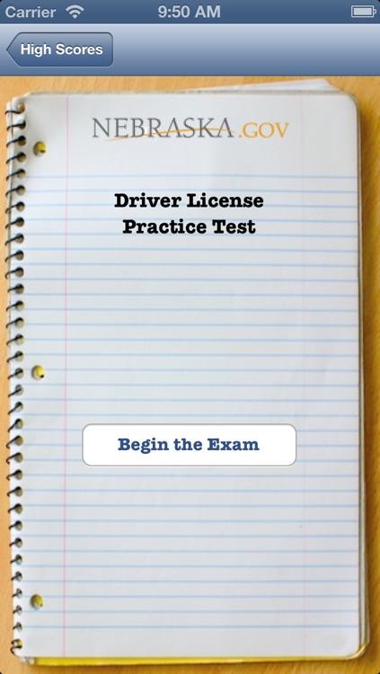nebraska drivers license driving test