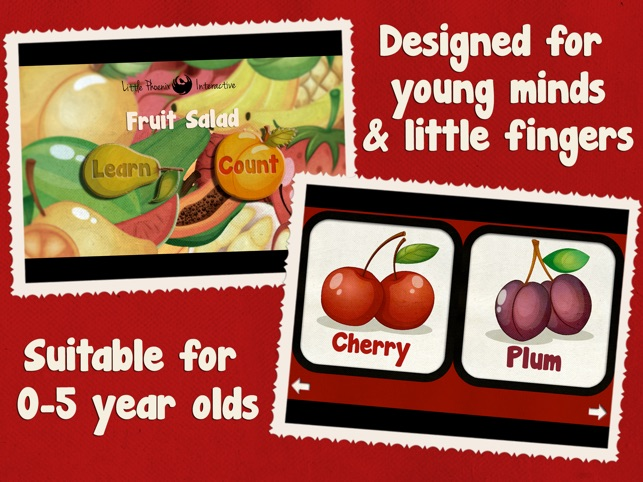 Toddler Counting 123 HD - Fruit Salad Screenshot