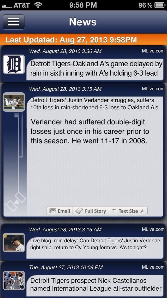 Detroit Baseball Live review screenshots