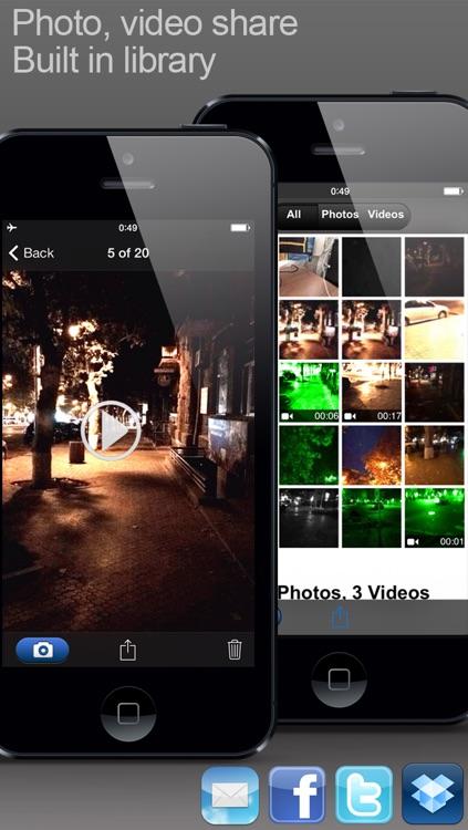 VIDEO HD+ (Video camera with saturation and light amplifier regulation mode) screenshot-4