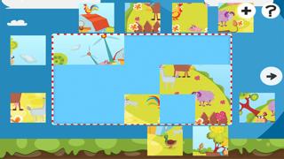 農場拼圖 - 拼圖兒童,幼兒和家長的遊戲! 學習 與動物,農民,牛,馬,羊,鵝,鴨,蜜蜂和蝴蝶的幼兒園,學前班和幼兒園屏幕截圖1