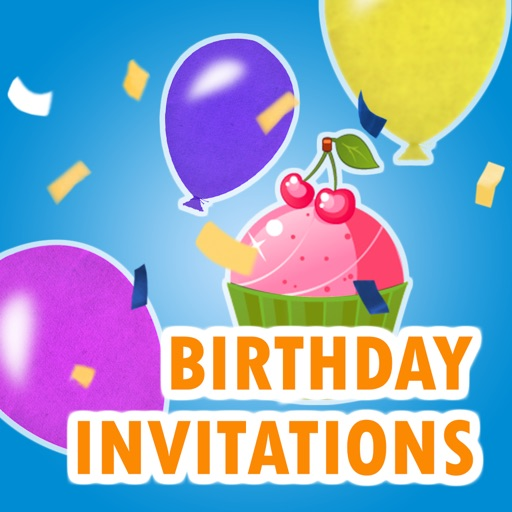 Birthday Invitation Cards Pro App Logo