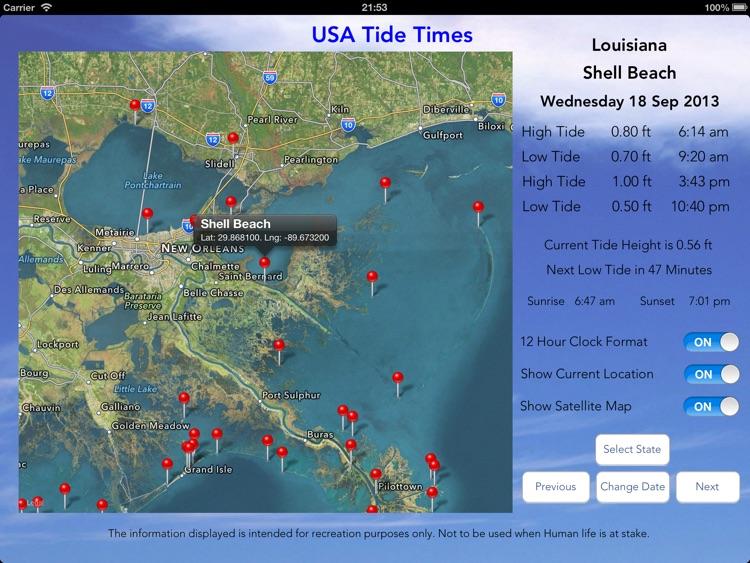 USA Tide Times Pro screenshot-3