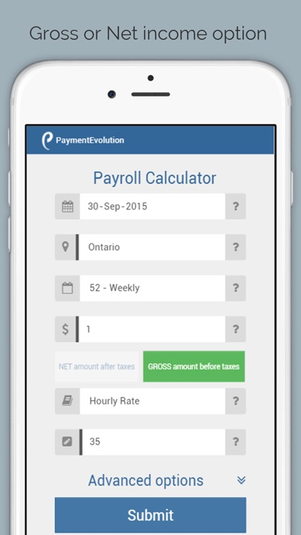 payroll calculator canada by paymentevolution