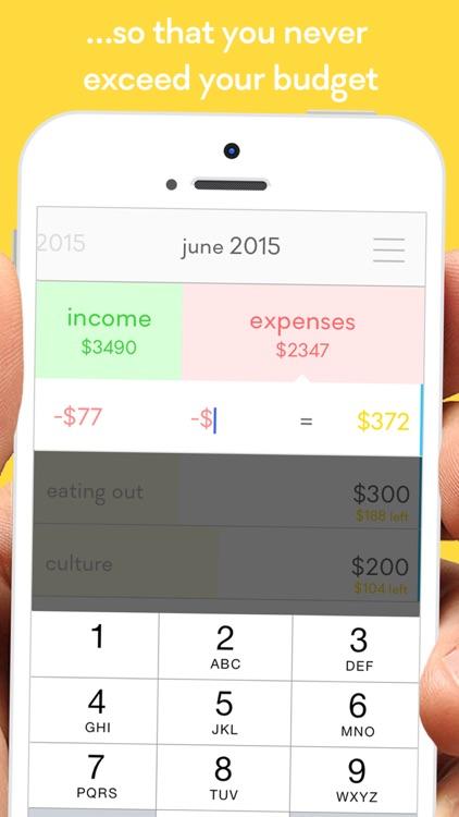 monthly - budget planner w/ 1-SWIPE expense tracker screenshot-3