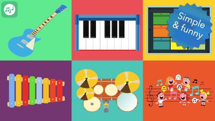 Musical Instruments for Babies - Simple music playing
