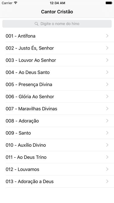 Cantor Cristão - Hinos screenshot two