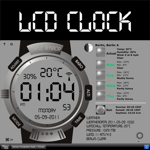 LCD Clock+Weather+Radio