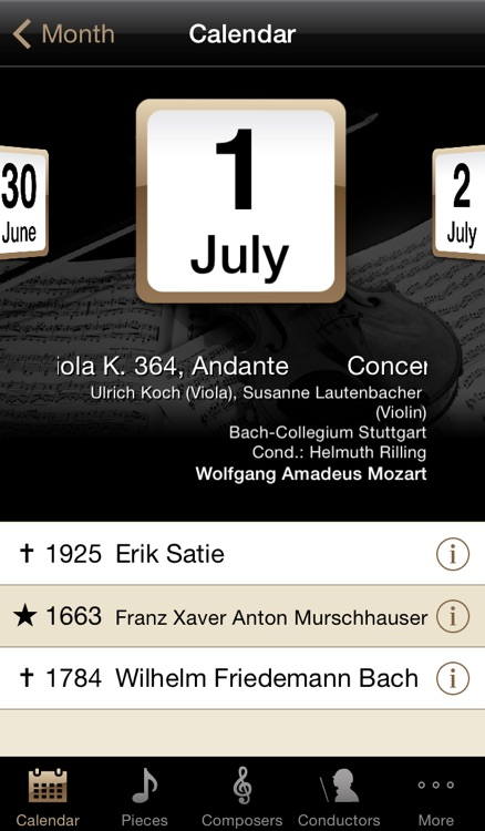 ClassiCal Music Calendar screenshot-1