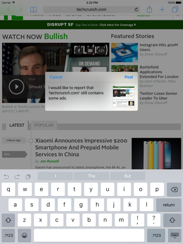 iBlockify - Block Ads, Social Content & Make The Web Faster screenshot