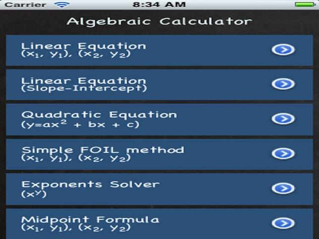 Algebraic Calculator on the App Store