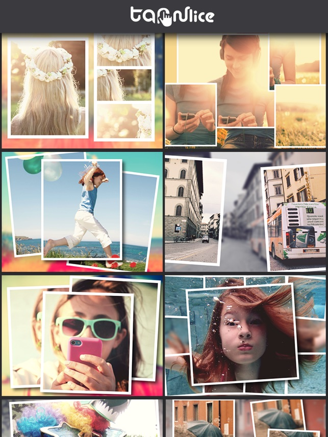 TapnSlice - Photo Collage Editor - Cut your photo into pieces to make great photo collage and pic frame Screenshot