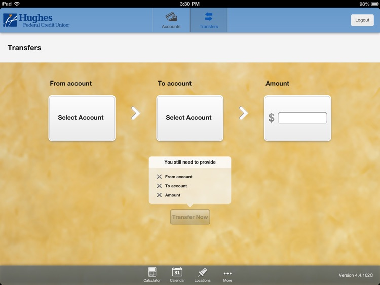 Hughes Federal CU - Tucson, AZ for iPad screenshot-3