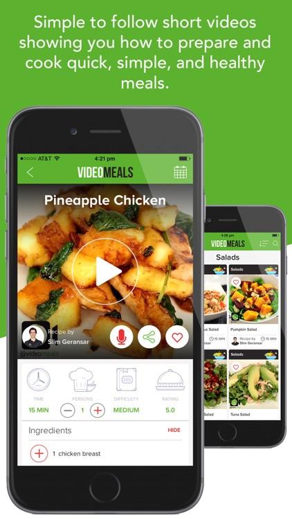 VideoMeals - Quick Simple Healthy Recipes screenshot-0