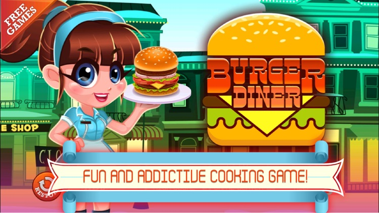 Diner Cafe - Fastfood Manager and Chef: Serve Burger, Pizza and Fries!