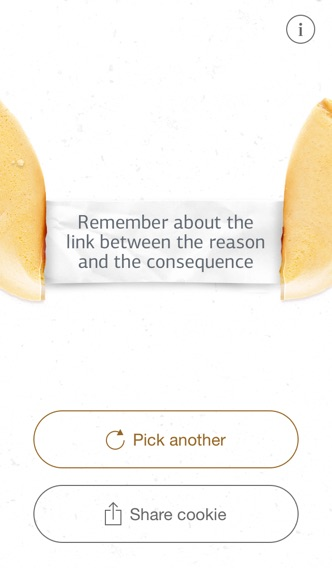 Good Fortune Cookie iPhone