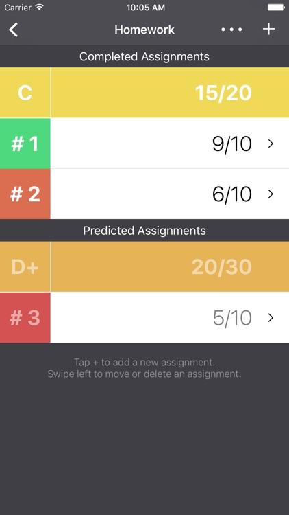 Gradient Grades – Grade Calculator screenshot-3