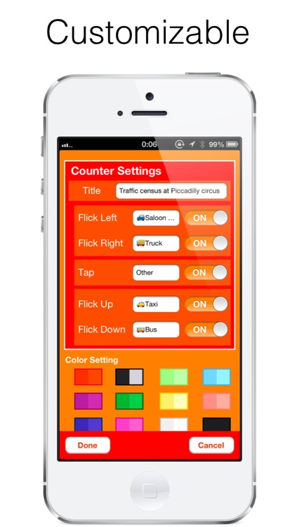 Flick Counter FREE - Tally Counter , Measure without looking at the screen screenshot-4
