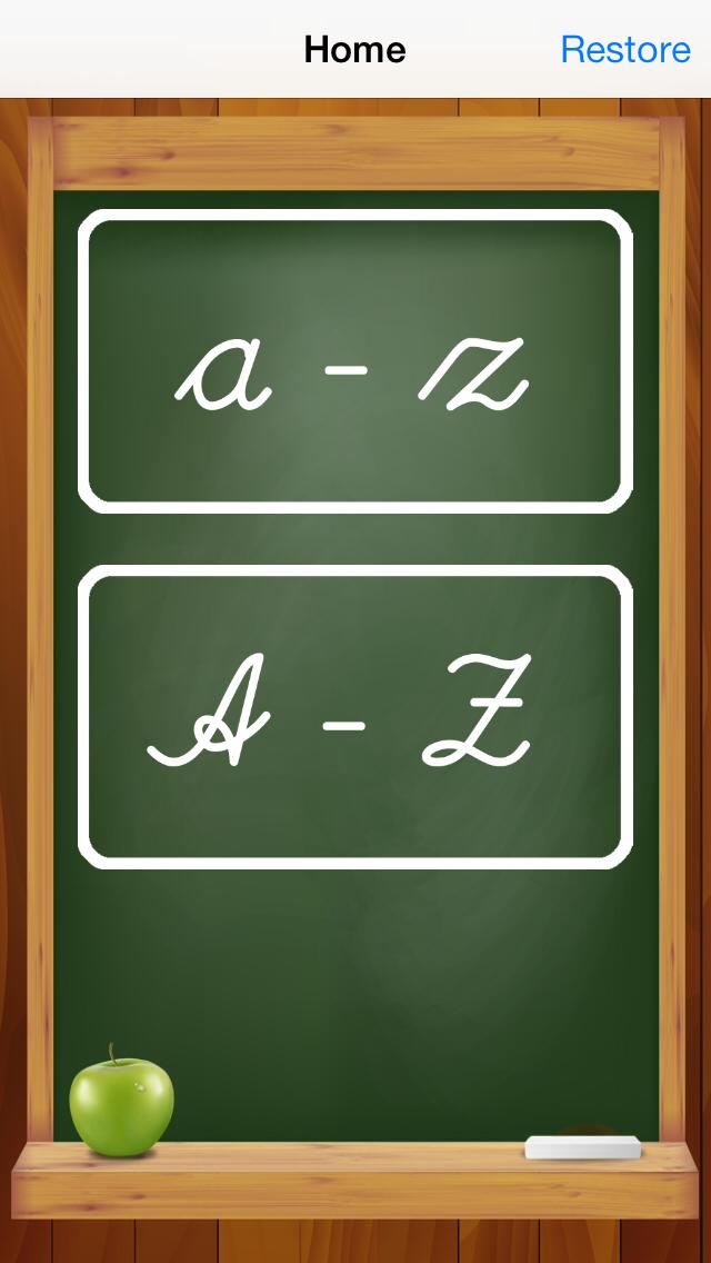 筆記体で書く:書き込みや学校のためのアルファベットの文字をご覧くださいのおすすめ画像5