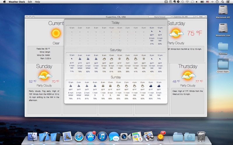 Screenshot #5 for Weather Dock: Desktop forecast