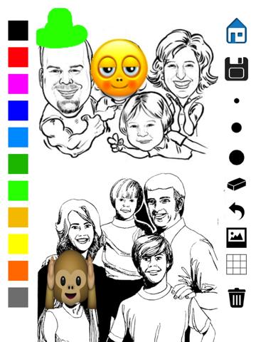 Tekening - allemaal in één foto effecten gekke koele beeld applicatie met Emojis en Emoticons iPad app afbeelding 5
