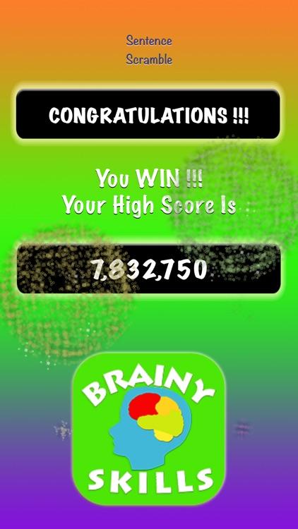 Brainy Skills Sentence Scramble