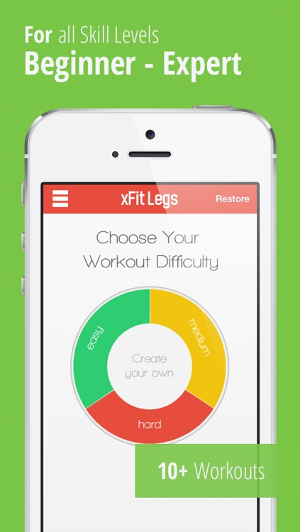 xFit Legs – Daily Workout for Tight Sculpted Thighs, Calves and Butt Muscles