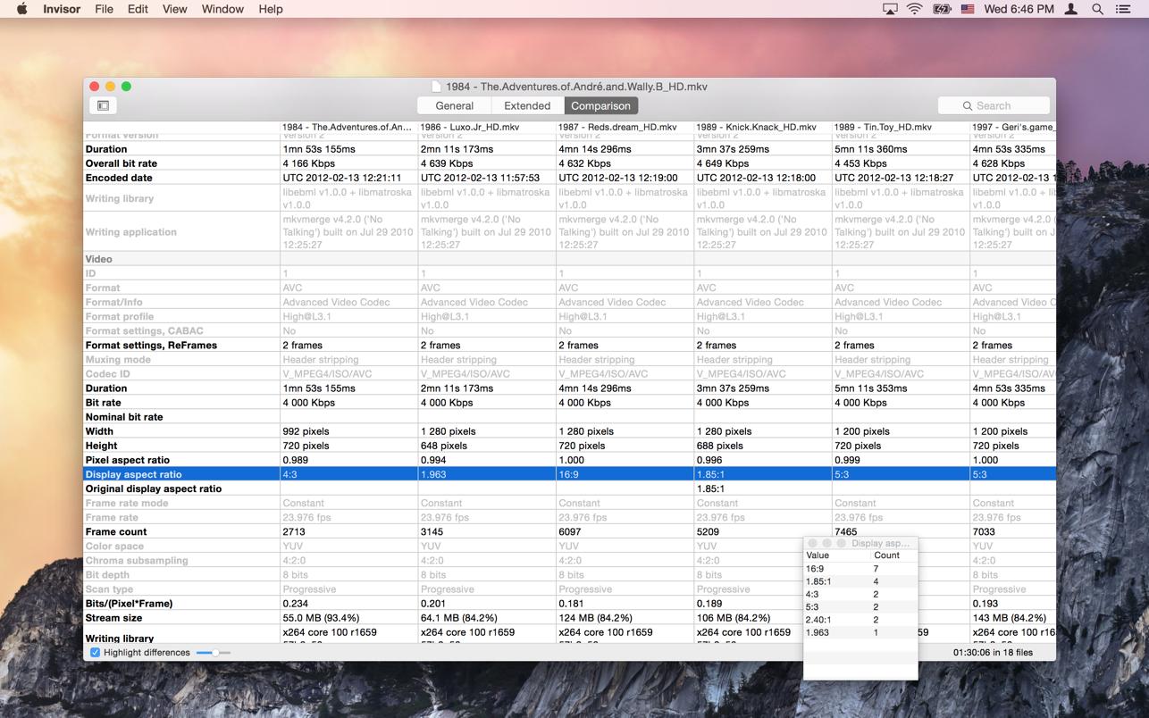 Invisor 3.14 Mac 破解版 优秀的多媒体元信息查看工具