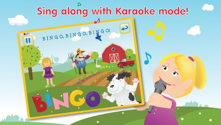 Kids Apps ∙ Bingo ABC alphabet phonics song. Interactive Nursery Rhymes with Karaoke music.