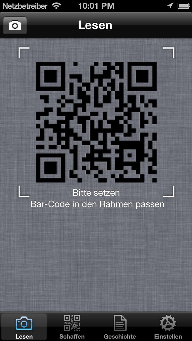 QR-Meister - einfach und schnell QR Code und Barcode-Leser / Scanner und Generator.Screenshot von 1